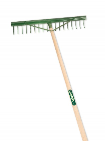 18T Metal Landscape Rake with grading bar