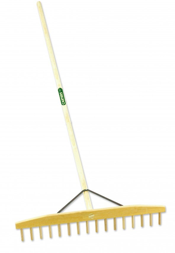 16 Prong Wooden Grass Rake